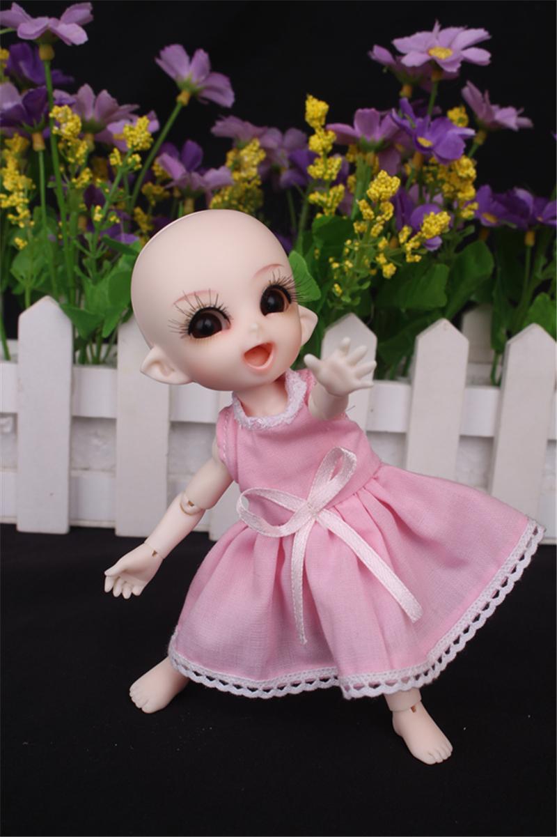 ドール衣装 ピンク洋服 スカート BJD衣装 1/3 1/4 1/6 1/8 サイズが注文できる製品図5