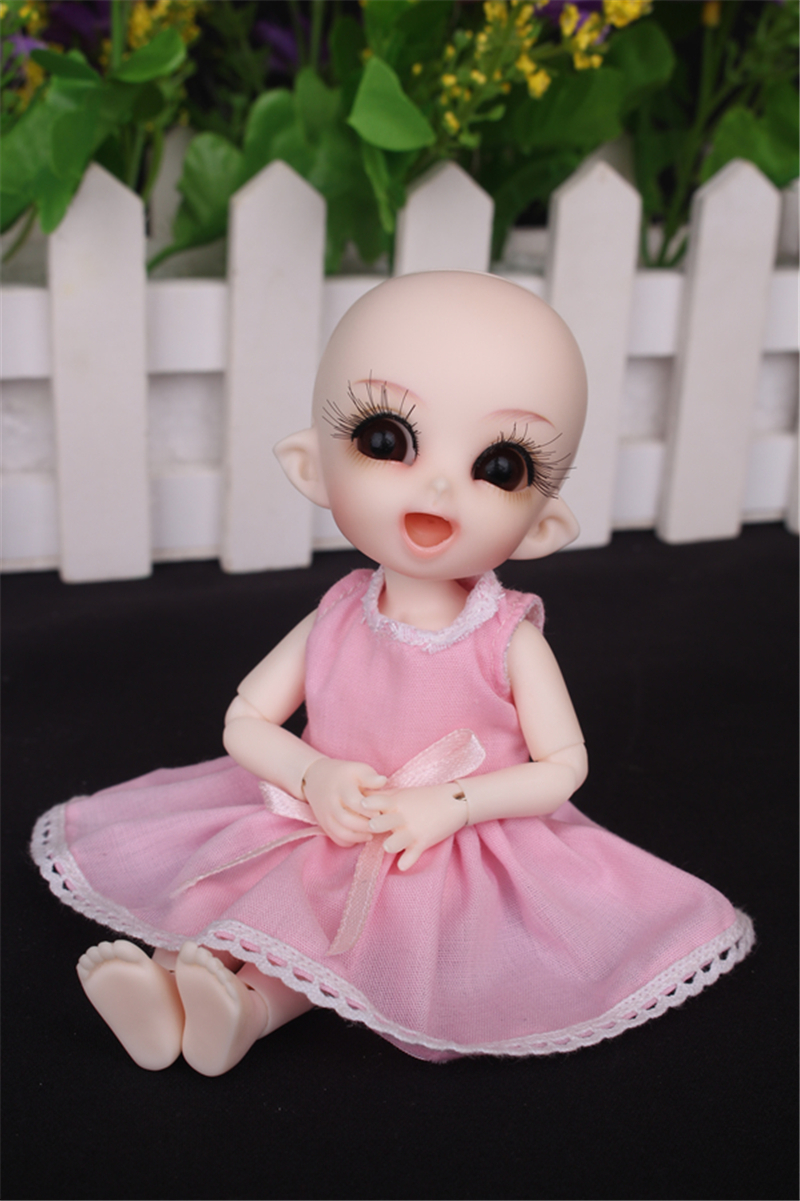 ドール衣装 ピンク洋服 スカート BJD衣装 1/3 1/4 1/6 1/8 サイズが注文できる製品図1