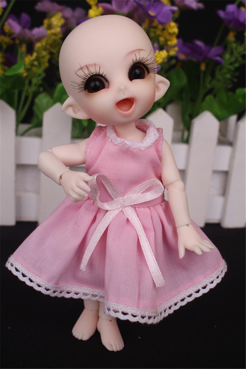 ドール衣装 ピンク洋服 スカート BJD衣装 1/3 1/4 1/6 1/8 サイズが注文できる製品図2