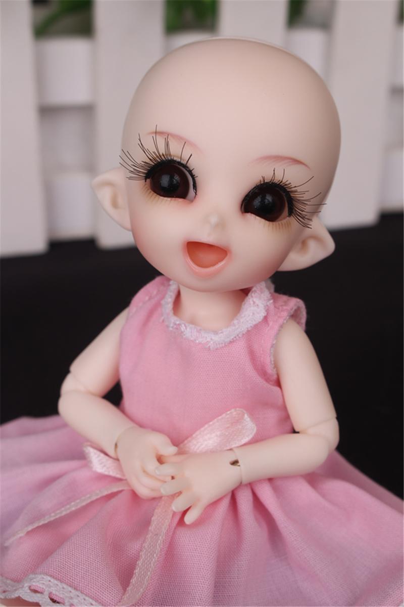 ドール衣装 ピンク洋服 スカート BJD衣装 1/3 1/4 1/6 1/8 サイズが注文できる製品図3