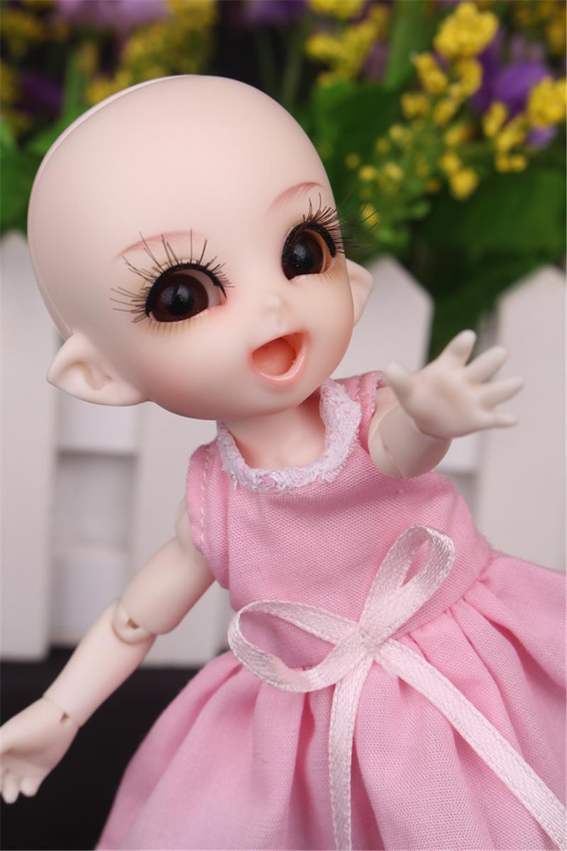 ドール衣装 ピンク洋服 スカート BJD衣装 1/3 1/4 1/6 1/8 サイズが注文できる製品図4