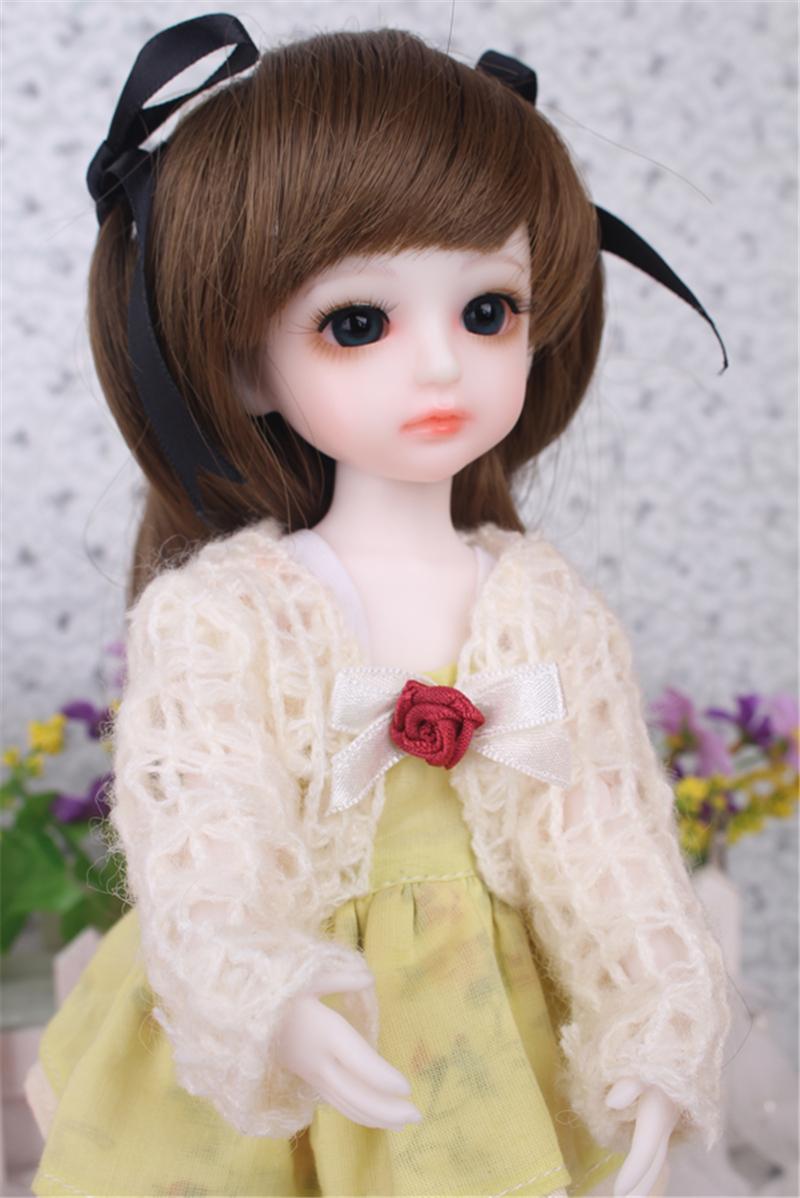 ドール衣装 黄色洋服 スカート BJD衣装 1/3 1/4 1/6 サイズが注文できる製品図1