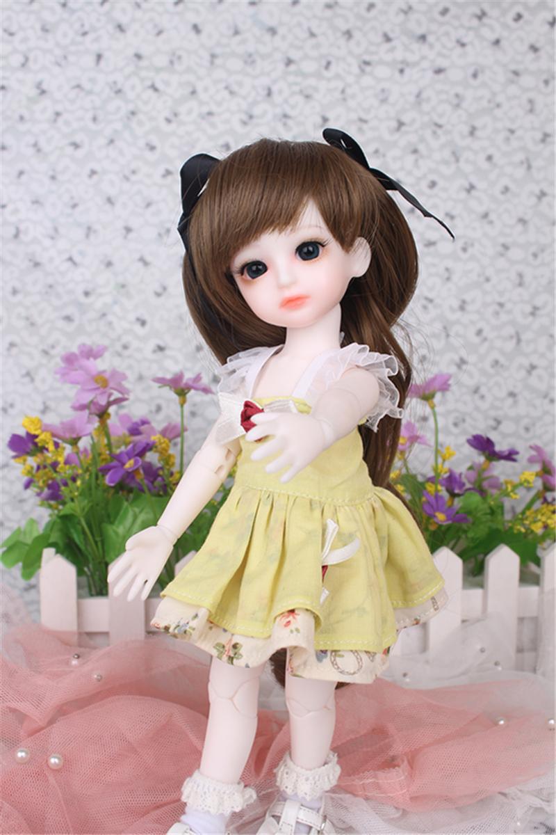 ドール衣装 黄色洋服 スカート BJD衣装 1/3 1/4 1/6 サイズが注文できる製品図2