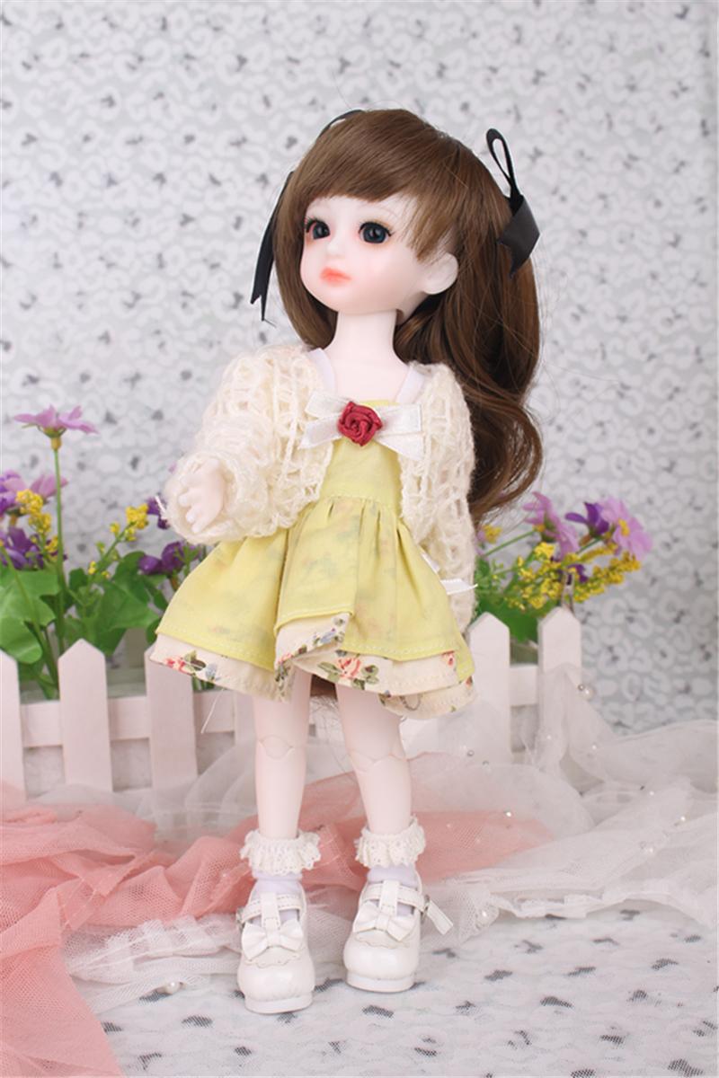 ドール衣装 黄色洋服 スカート BJD衣装 1/3 1/4 1/6 サイズが注文できる製品図3