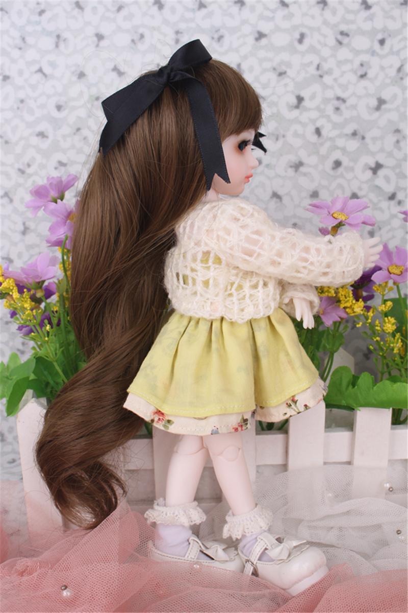 ドール衣装 黄色洋服 スカート BJD衣装 1/3 1/4 1/6 サイズが注文できる製品図4