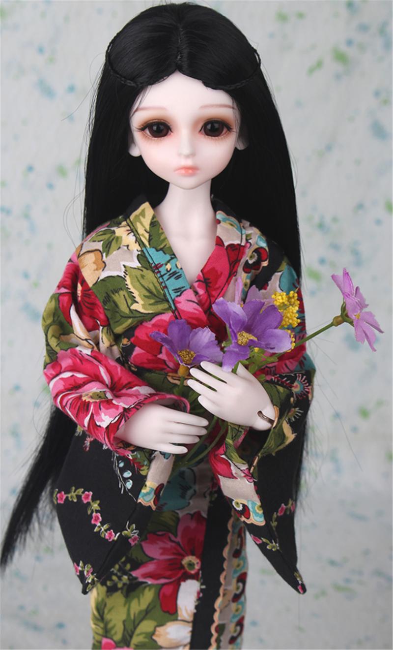 ドール衣装 日本風 和服 BJD衣装 1/3 1/4 1/6 サイズが注文できる製品図5