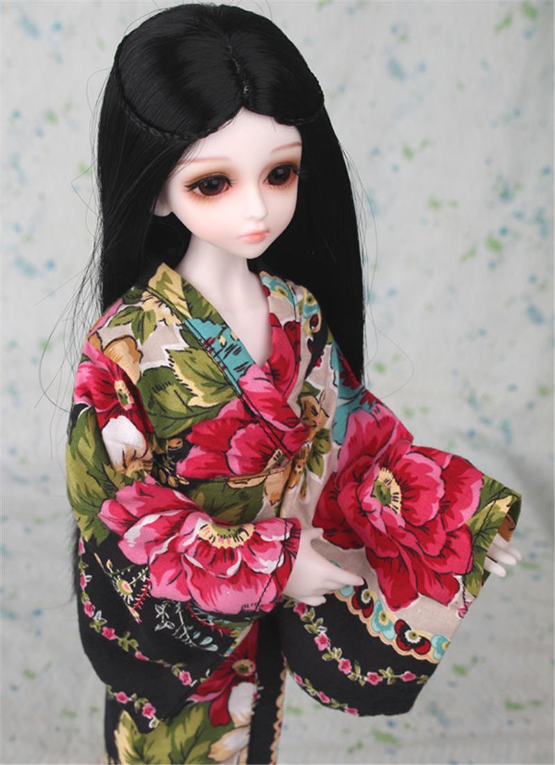 ドール衣装 日本風 和服 BJD衣装 1/3 1/4 1/6 サイズが注文できる製品図7