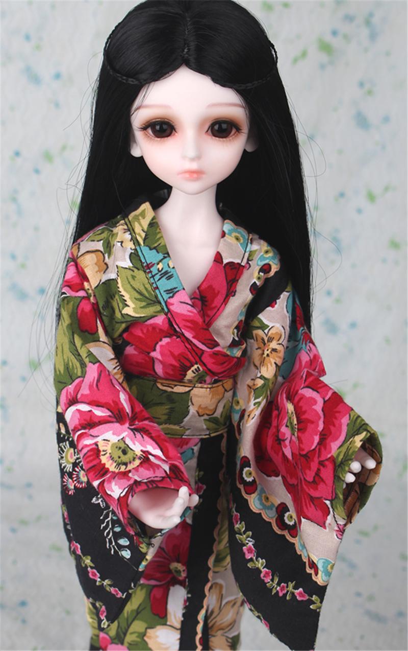 ドール衣装 日本風 和服 BJD衣装 1/3 1/4 1/6 サイズが注文できる製品図8