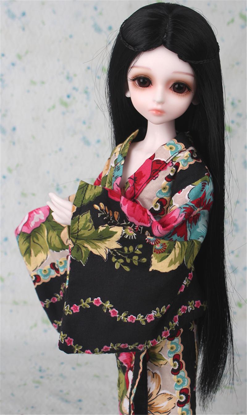 ドール衣装 日本風 和服 BJD衣装 1/3 1/4 1/6 サイズが注文できる製品図2
