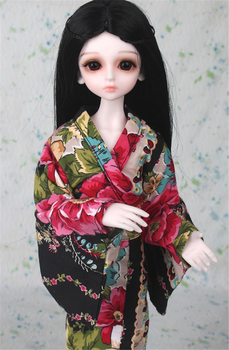 ドール衣装 日本風 和服 BJD衣装 1/3 1/4 1/6 サイズが注文できる製品図3