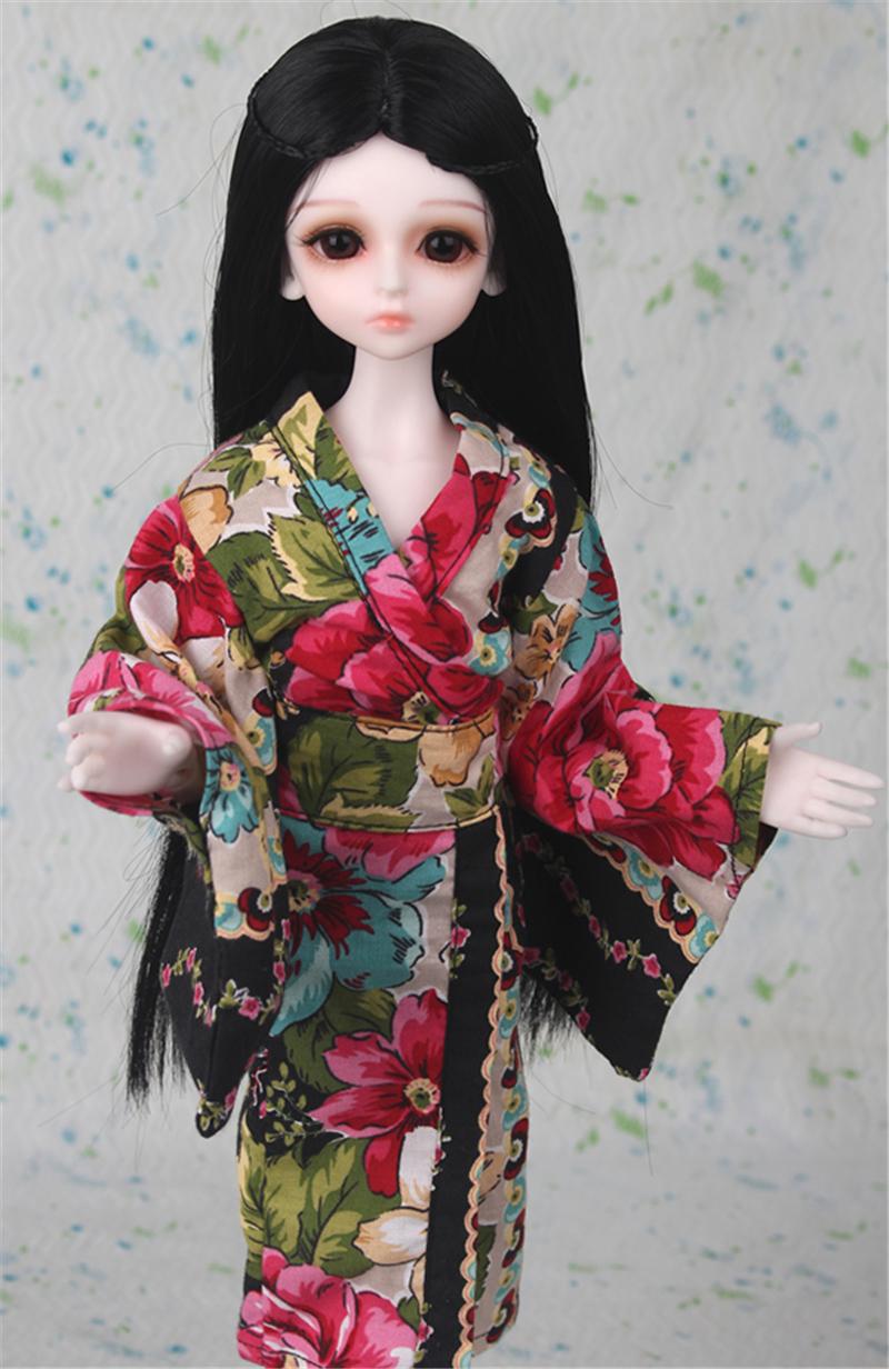ドール衣装 日本風 和服 BJD衣装 1/3 1/4 1/6 サイズが注文できる製品図4