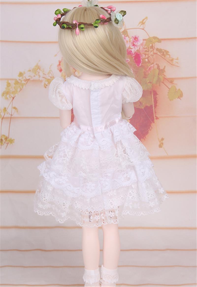 ドール衣装 白洋服 レース スカート BJD衣装 1/4 サイズが注文できる製品図5
