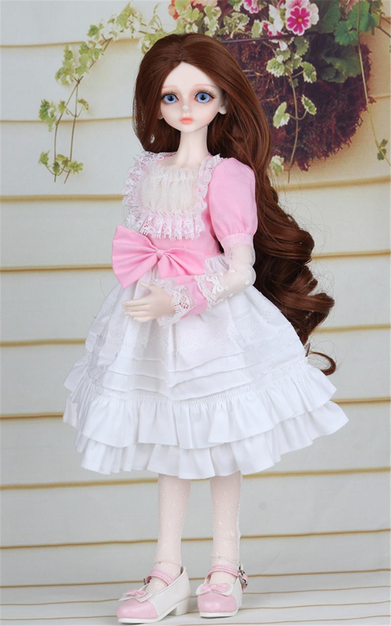 ドール衣装 ピンク洋服 スカート BJD衣装 1/4 サイズが注文できる製品図5