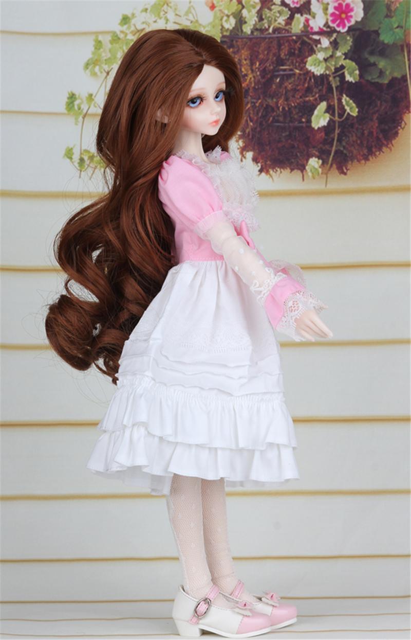 ドール衣装 ピンク洋服 スカート BJD衣装 1/4 サイズが注文できる製品図6