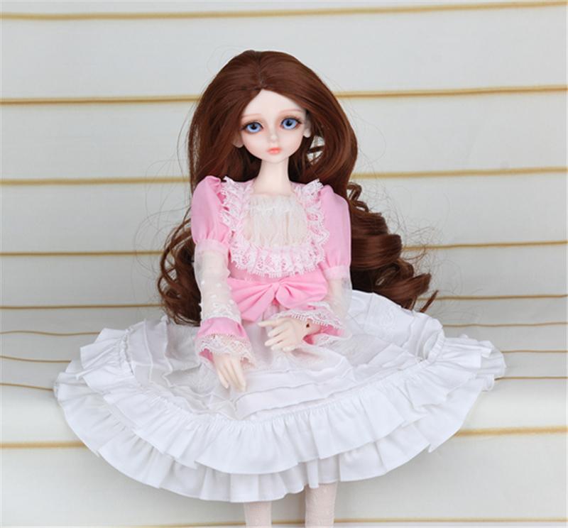 ドール衣装 ピンク洋服 スカート BJD衣装 1/4 サイズが注文できる製品図1