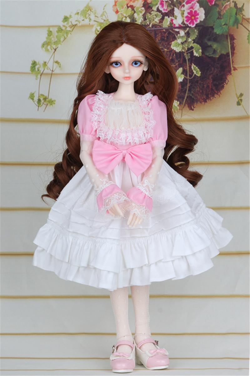 ドール衣装 ピンク洋服 スカート BJD衣装 1/4 サイズが注文できる製品図2