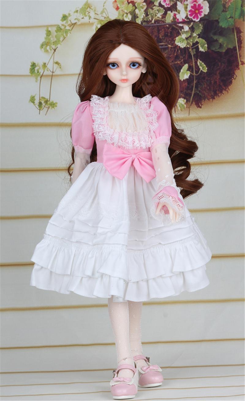 ドール衣装 ピンク洋服 スカート BJD衣装 1/4 サイズが注文できる製品図3