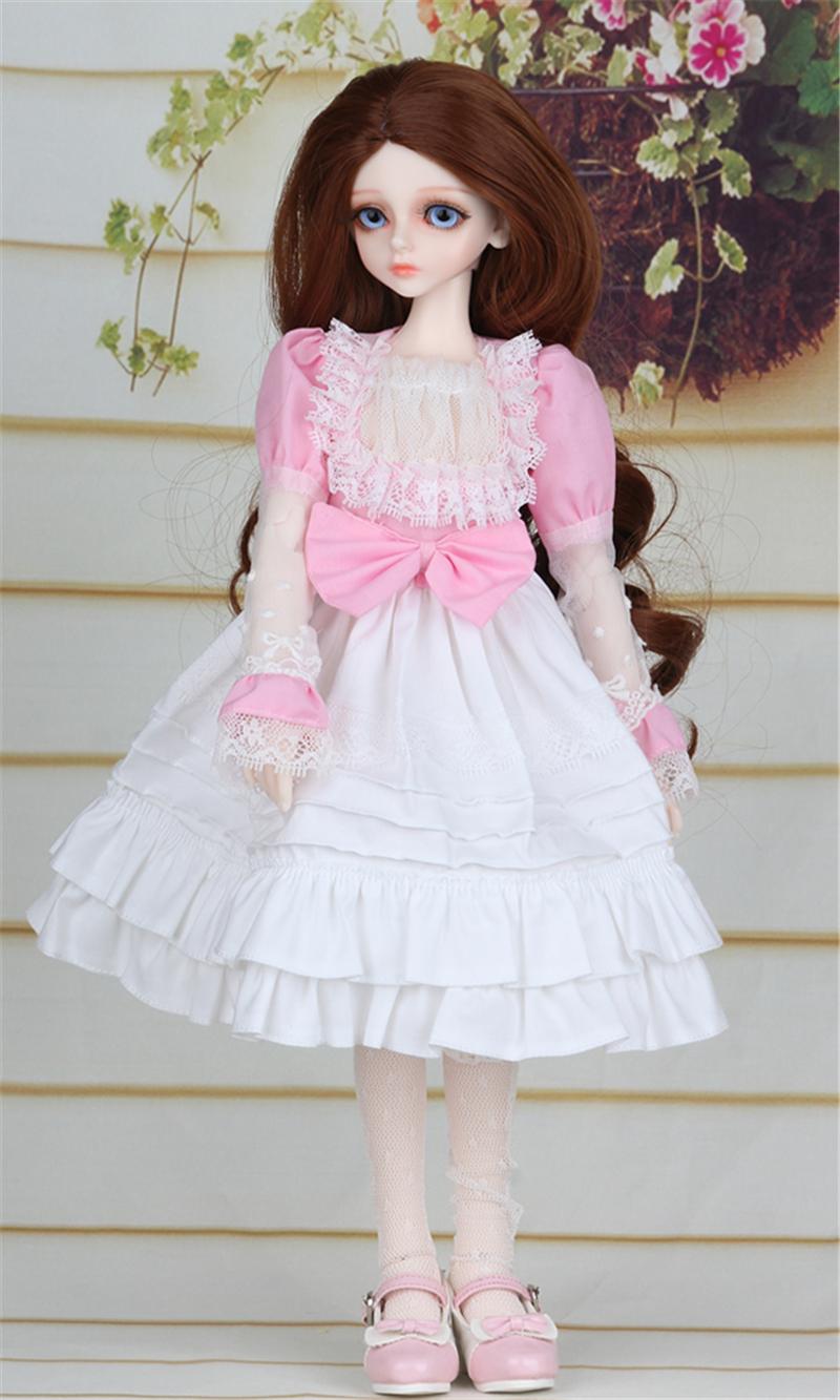 ドール衣装 ピンク洋服 スカート BJD衣装 1/4 サイズが注文できる製品図4