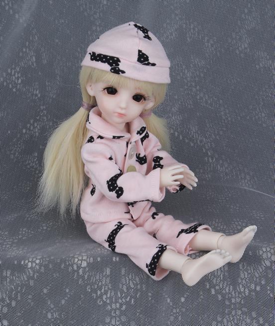 ドール衣装 BB ピンクパジャマ BJD衣装 1/6 サイズが注文できる製品図4