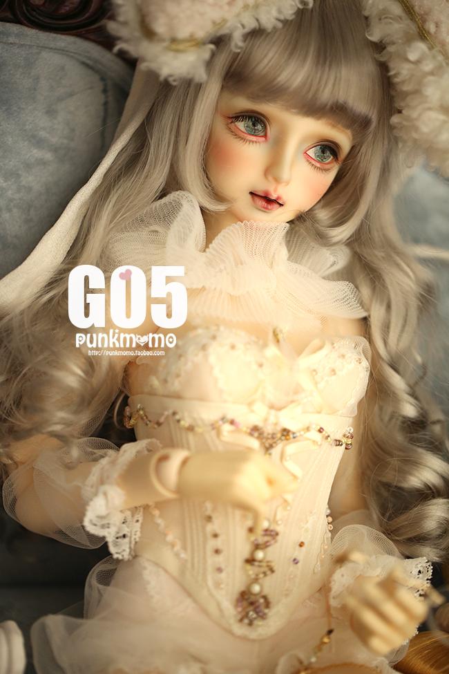 ドール用ウィッグ 人形ウィッグ 1/3サイズ  BJD SD 金色/銀色あり製品図5