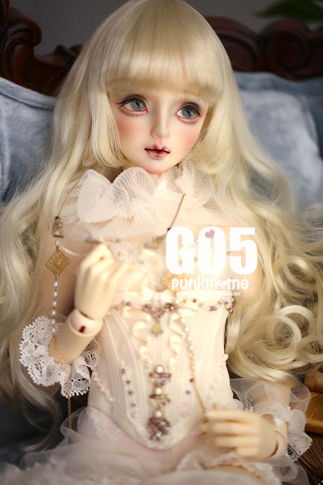 ドール用ウィッグ 人形ウィッグ 1/3サイズ  BJD SD 金色/銀色あり製品図1