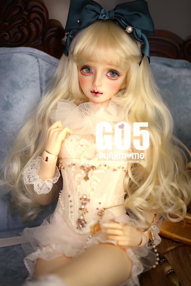 ドール用ウィッグ 人形ウィッグ 1/3サイズ  BJD SD 金色/銀色あり製品図2