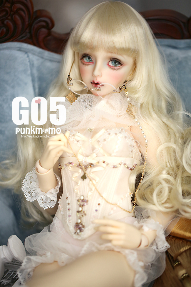 ドール用ウィッグ 人形ウィッグ 1/3サイズ  BJD SD 金色/銀色あり製品図3