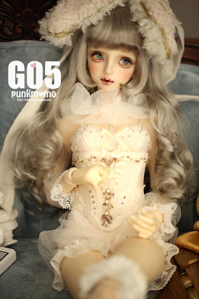 ドール用ウィッグ 人形ウィッグ 1/3サイズ  BJD SD 金色/銀色あり製品図4