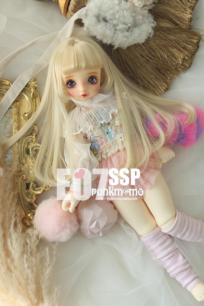 ドール用ウィッグ 人形ウィッグ 1/3サイズ  BJD SD ピンクあり製品図3