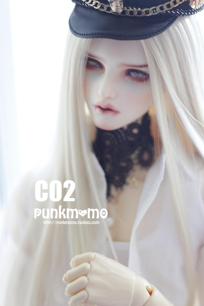 ドール用ウィッグ 人形ウィッグ 1/3サイズ  BJD SD 銀色/金色/白色あり製品図5