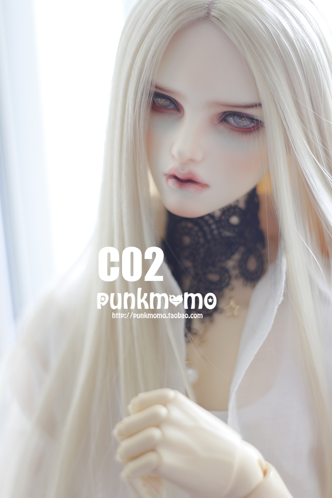 ドール用ウィッグ 人形ウィッグ 1/3サイズ  BJD SD 銀色/金色/白色あり製品図8