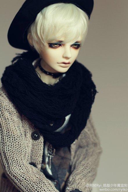 ドール用ウィッグ 人形ウィッグ 1/3サイズ  BJD SD 黒色あり製品図1