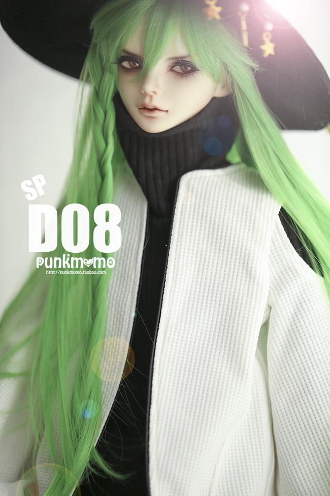ドール用ウィッグ 人形ウィッグ 1/3サイズ  BJD SD 緑色あり製品図1
