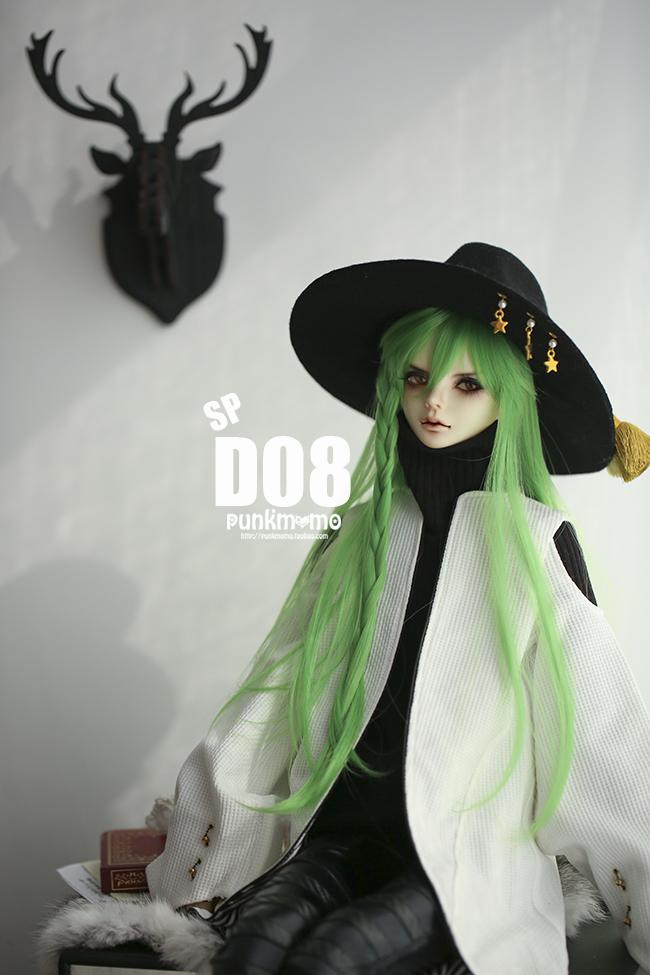 ドール用ウィッグ 人形ウィッグ 1/3サイズ  BJD SD 緑色あり製品図2