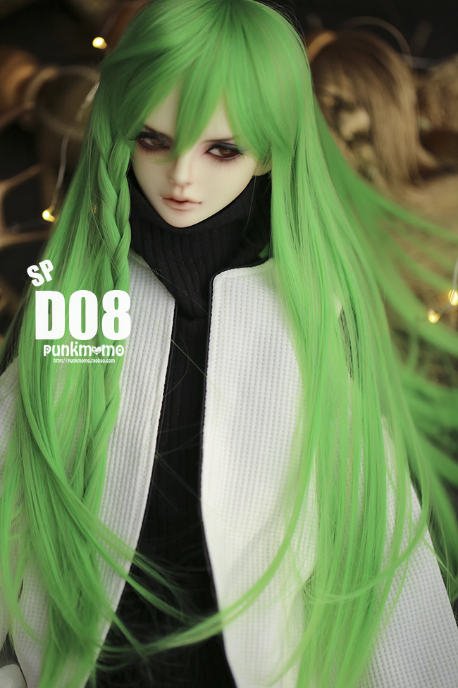 ドール用ウィッグ 人形ウィッグ 1/3サイズ  BJD SD 緑色あり製品図3