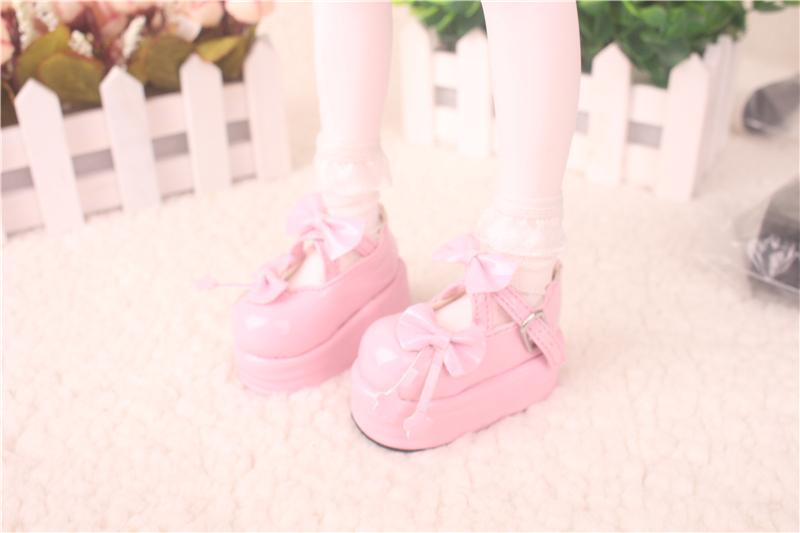 Bjd靴 ドール靴  蝶結び厚みの靴 1/4  単独で購入できない製品図1