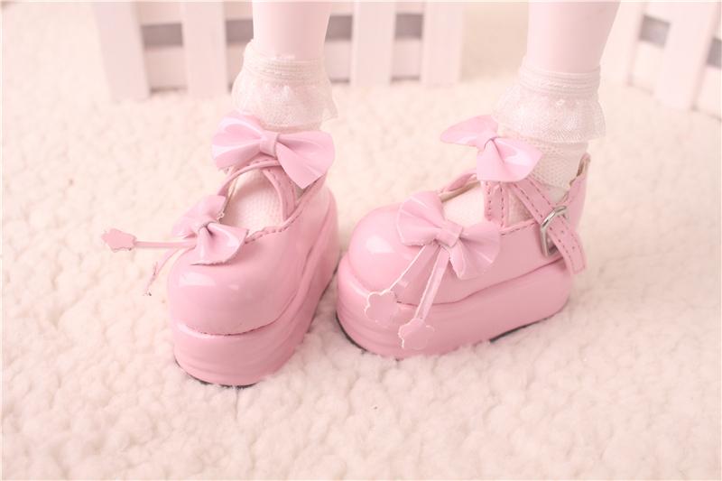 Bjd靴 ドール靴  蝶結び厚みの靴 1/4  単独で購入できない製品図2