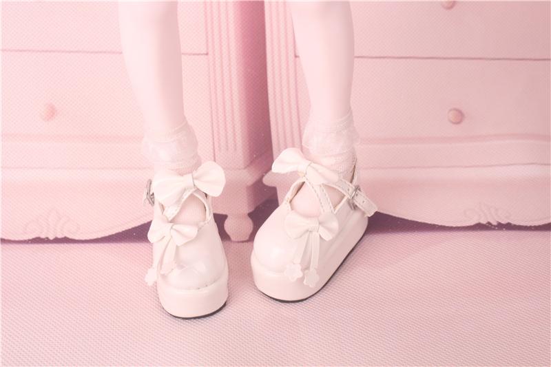 Bjd靴 ドール靴  蝶結び厚みの靴 1/4  単独で購入できない製品図4