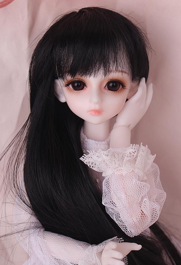 人形ウィッグ BJDウィッグ 黒ロングヘア 長髪 1/4 1/6単独で購入できない製品図1