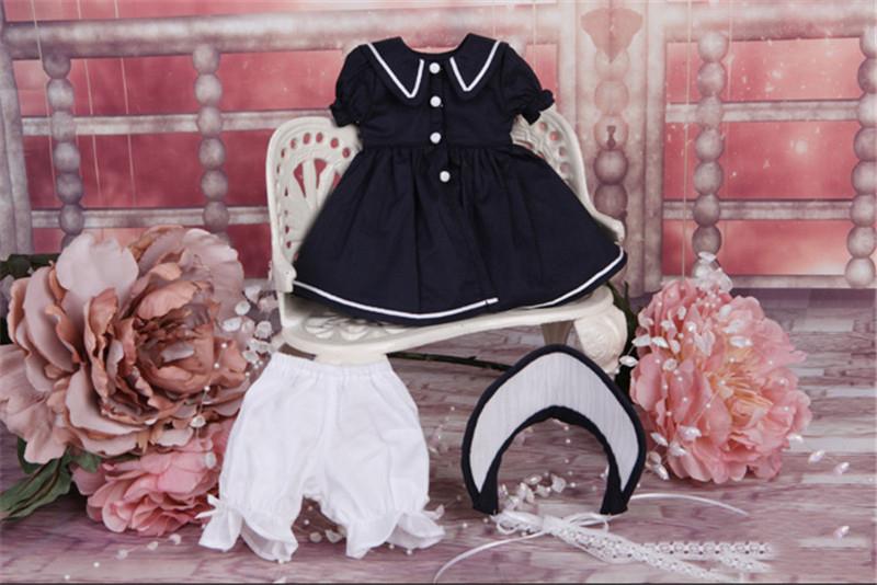 ドール衣装 日常衣装セット 紺のスカート BJD衣装 サイズが注文できる製品図6