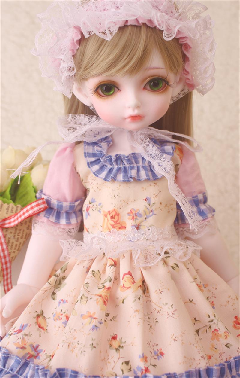 ドール衣装 花柄 田園風 BJD衣装 1/3 1/4 1/6 サイズが注文できる製品図7