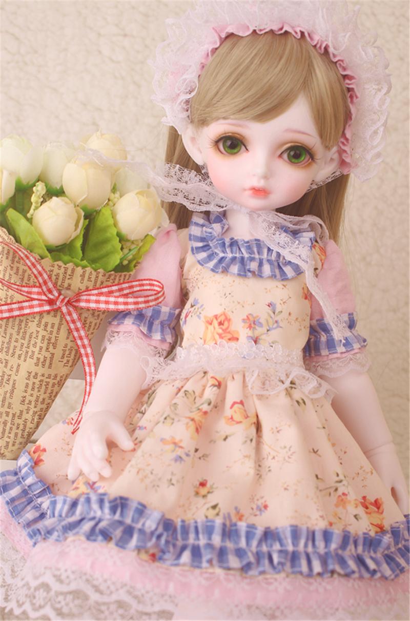 ドール衣装 花柄 田園風 BJD衣装 1/3 1/4 1/6 サイズが注文できる製品図3