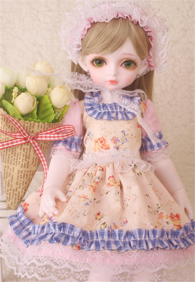 ドール衣装 花柄 田園風 BJD衣装 1/3 1/4 1/6 サイズが注文できる製品図4