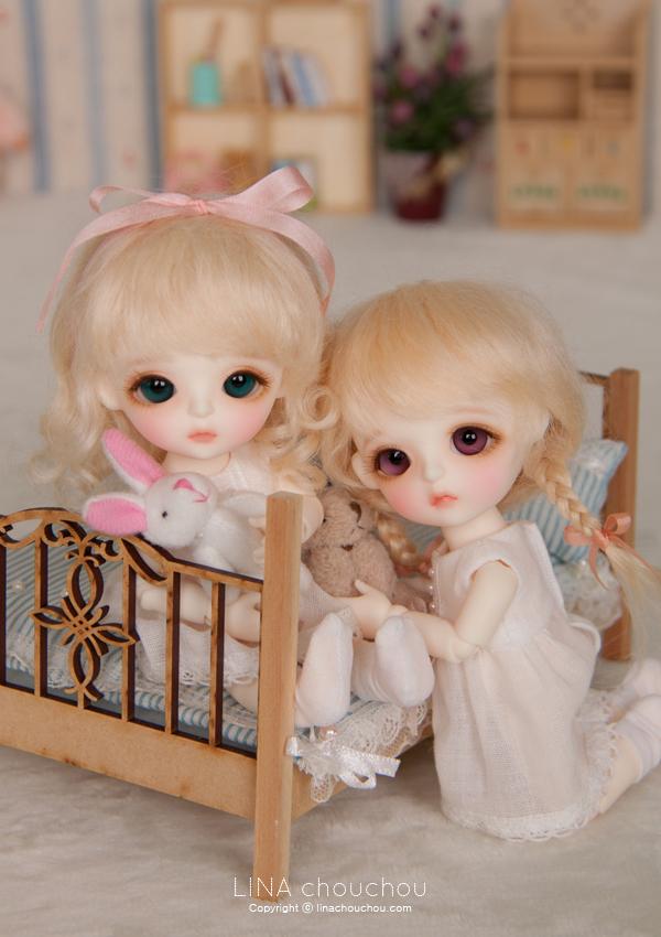 ドール本体 Lina Baby Miu ドールボディー BJD人形 SD人形 1/8製品図4