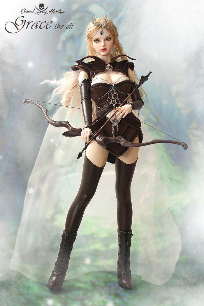 ドール本体IPHOUSE Grace 精霊ドールボディー  BJD人形 SD人形 1/3製品図6