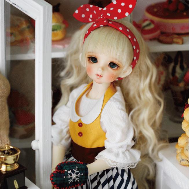 ドール本体 CRBOI Heidi 疑問符 ドールボディー  BJD人形 SD人形 1/4製品図1