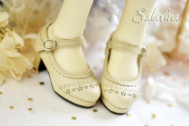 BJD靴  ドール靴 日常エンボス ハイヒール 人形靴 1/4 msd.sdm製品図6