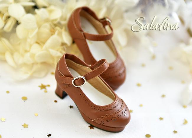 BJD靴  ドール靴 日常エンボス ハイヒール 人形靴 1/4 msd.sdm製品図7