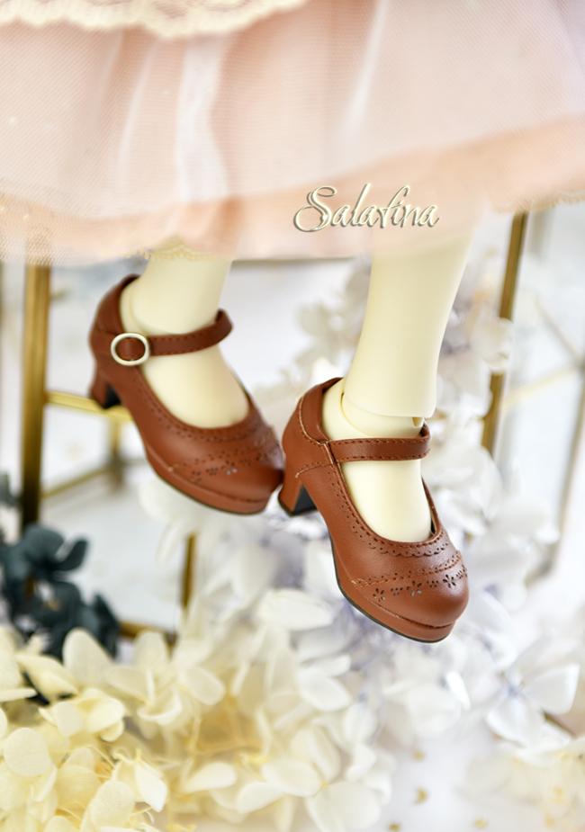 BJD靴  ドール靴 日常エンボス ハイヒール 人形靴 1/4 msd.sdm製品図8