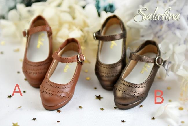 BJD靴  ドール靴 日常エンボス ハイヒール 人形靴 1/4 msd.sdm製品図1